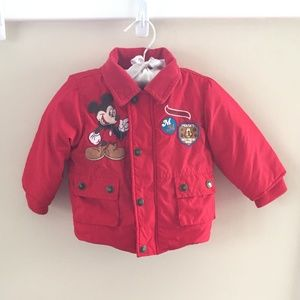 Disney Mickey Mouse Red Winter Coat